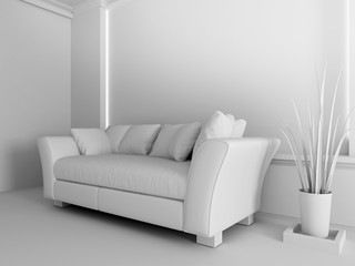White sofa in interior