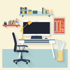Workplace flat vector design.