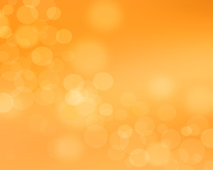 Orange bokeh abstract light background