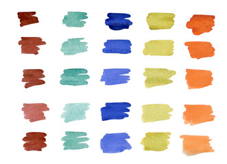 Shaded brush rectangular pieces of different colors