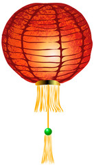 Vector illustration. Chinese lantern on a white background.