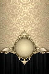 Decorative vintage background with elegant patterns.