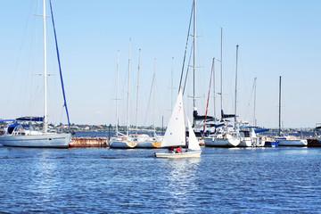 Beautiful boat on calm sea