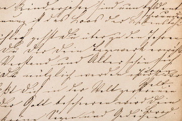 Old undefined abstract handwritten text. Paper texture backgroun