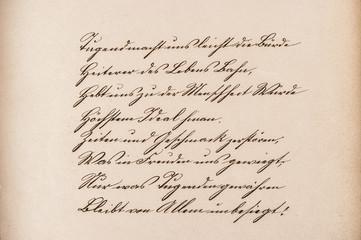 Old calligraphic manuscript. Vintage paper texture