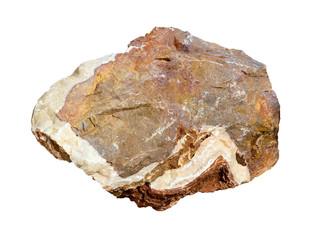 big granite rock stone isolated