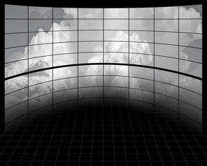Large Screens with Clouds