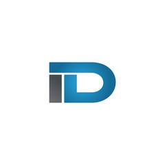 ID company linked letter logo blue