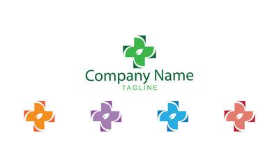 Herbal Medicine Logo Vector - medical Symbols