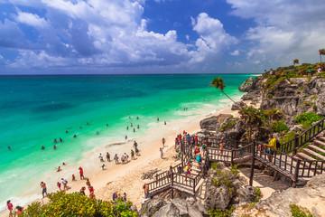 Beautiful beach of Tulum in Mexico