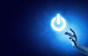Power button. Concept image