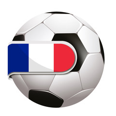 Ball with french flag