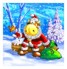 Bull Santa Claus