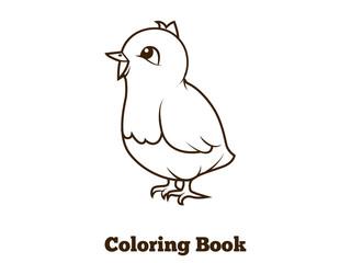 Coloring book chicken cartoon educational