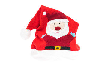 Santa red hat isolated on white background