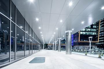 corridor in moder office building