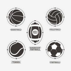 Sports balls logos, emblem