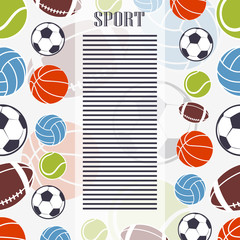 Sports background.