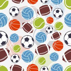 Seamless sports pattern.