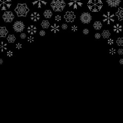 vector snowflakes background