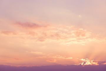 Beautiful sunrise sky in purple tone.