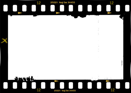 frame of film, grungy photo frame,with free copy space, panoramic