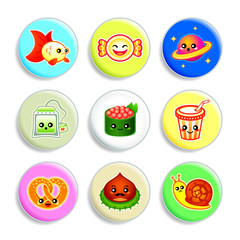 Kawaii badges - Set IV