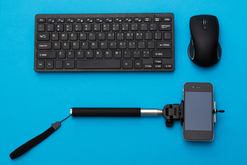Selfie stick and input devices