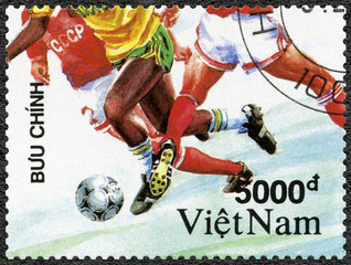 VIET NAM - 1991: shows Soccer, 1992 Summer Olympics Games