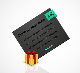 Abstract web message box with Christmas decoration