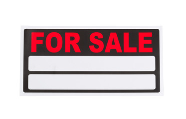 New for sale sign on white background