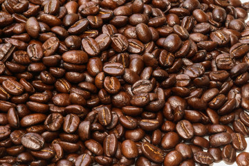 Fotobehang koffiebar Coffee beans background.