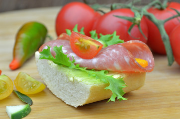 small party sandwiches