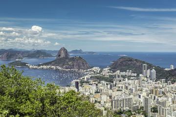 Beautiful skyline view of Rio de Janeiro