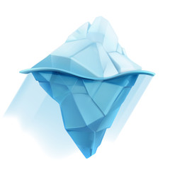 Iceberg, low poly style vector icon