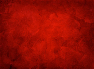 Artistic hand painted multi layered red background