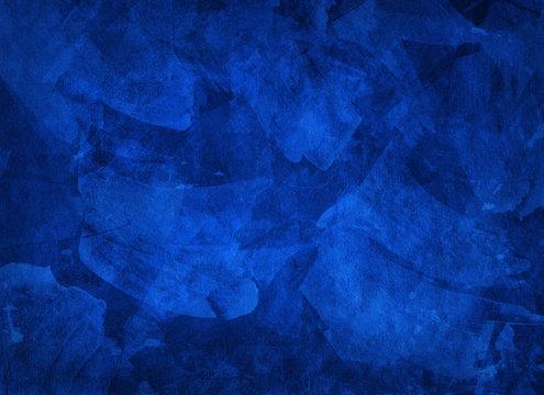 Artistic hand painted multi layered dark blue background