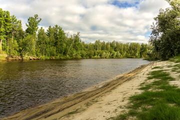 Summer landscape river Yagenetta