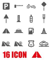 Vector grey road icon set