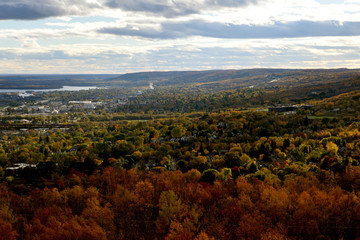 View of Duluth Hillside and Lake Superior in Fall