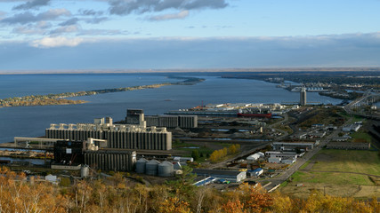 View of Duluth and Park Point from Enger Tower