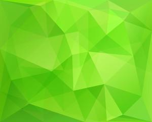 Abstract polygonal green vector bacground, in vector