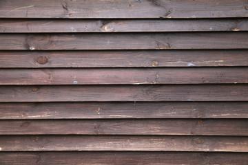 Dark brown grungy wooden wall, background