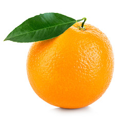 Orange fruit isolated on a white background.