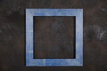 Blue frame on black background