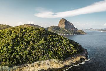 Aerial view of Sugar Loaf Mountain in Rio de Janeiro