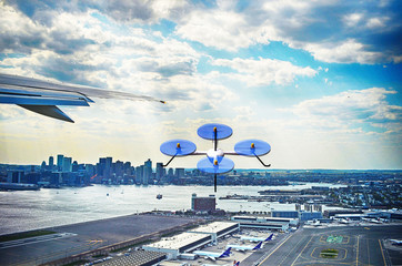 rendered illustration of a drone near Logan airport