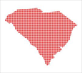 Red Dot Map of South Carolina