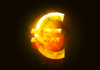 Currency glowing symbol