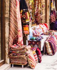 Textiles in the bazaar on Istanbul